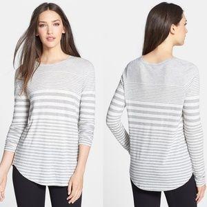 Vince • Varagated Striped Pima Cotton Shirt